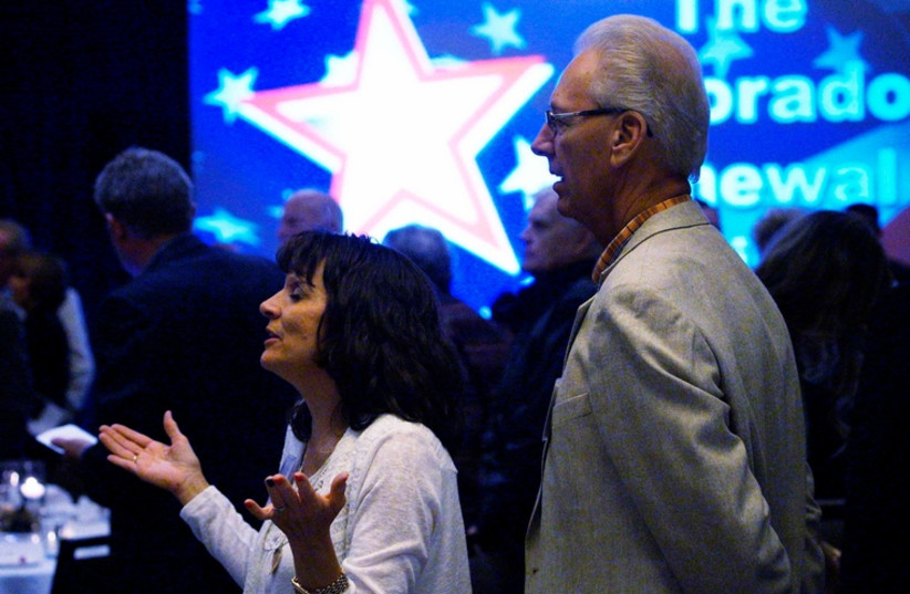 American evangelicals pray (photo credit: REUTERS)