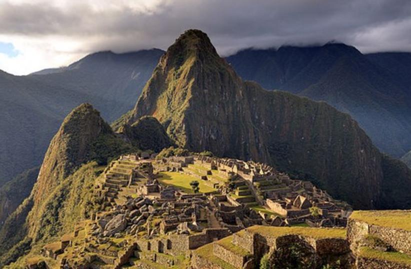 The ruins of Machu Picchu in Peru (photo credit: Wikimedia Commons)