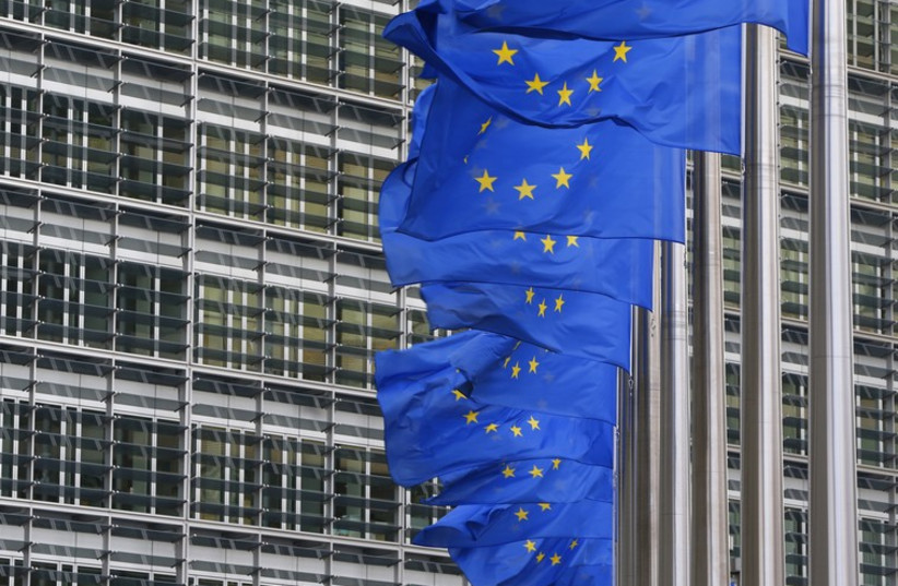 European Union flags (photo credit: REUTERS)