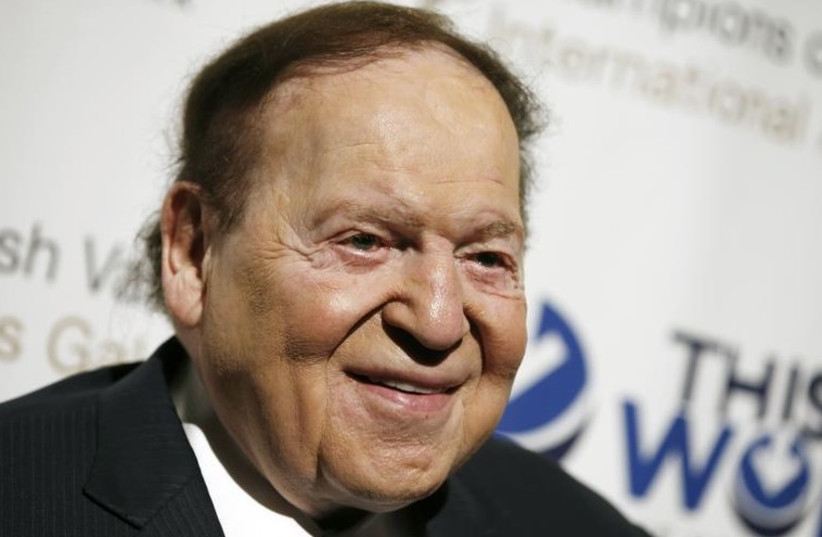 Las Vegas gaming tycoon and Israel Hayom proprietor Sheldon Adelson (photo credit: REUTERS)