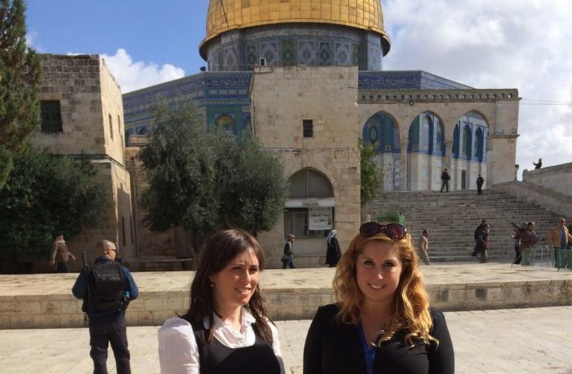 Tzipi Hotovely visits Temple Mount (photo credit: EZRA GABBAY)