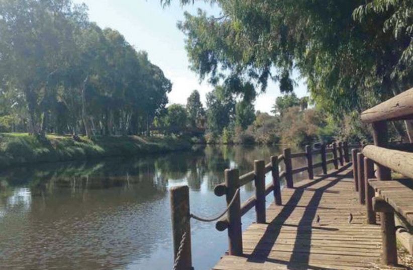 The Tel Aviv-area Yarkon river is one of the most beautiful spots in central Israel (photo credit: MEITAL SHARABI)