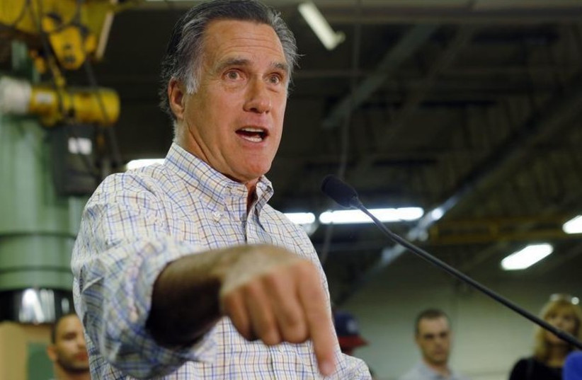 Former Republican presidential hopeful Mitt Romney (photo credit: REUTERS)