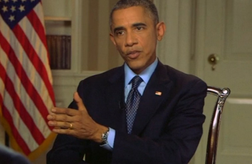US President Barack Obama speaks during CBS News interview, November 9 (photo credit: screenshot)