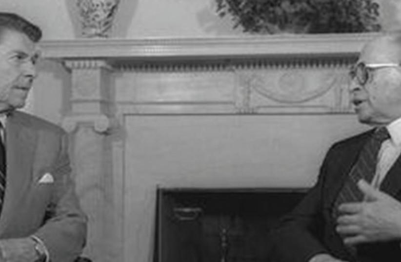 US PRESIDENT Ronald Reagan (left) and prime minister Menachem Begin speak at the White House. (photo credit: GPO)