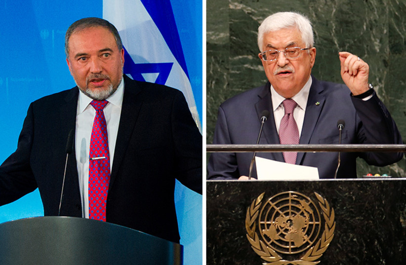 Abbas and Liberman (photo credit: REUTERS)