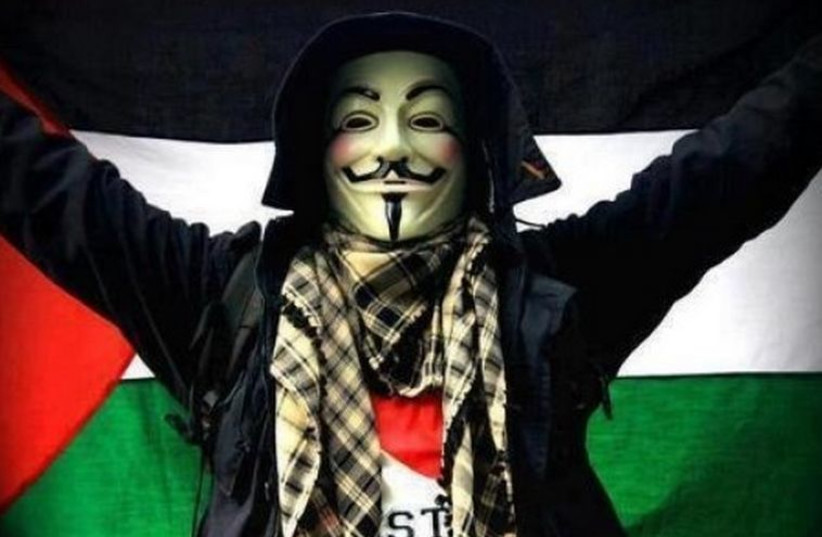 Picture of Anonymous hacker from social media (photo credit: SOCIAL MEDIA)