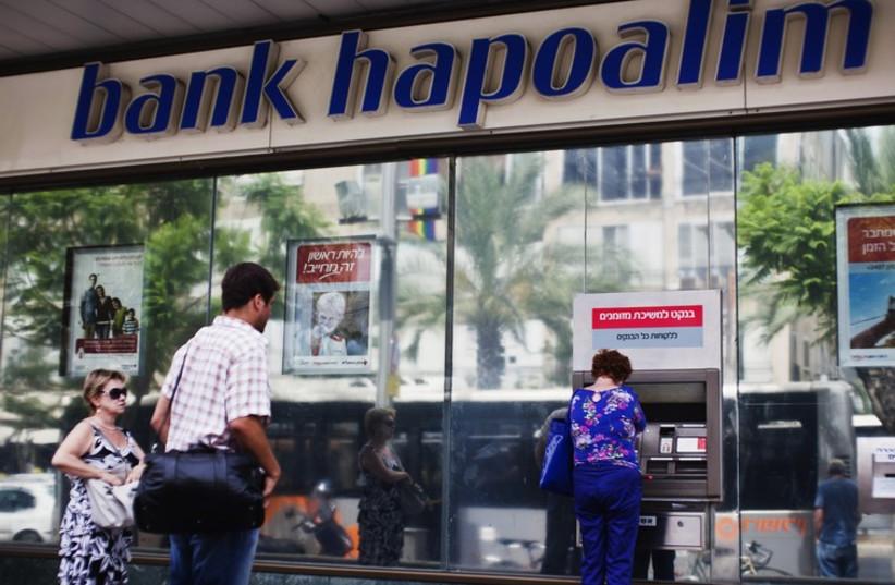 A Bank Hapoalim branch in Tel Aviv (photo credit: REUTERS)