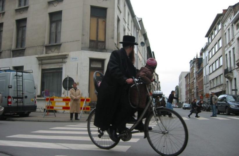 Jewish district in Antwerp. (photo credit: JTA)