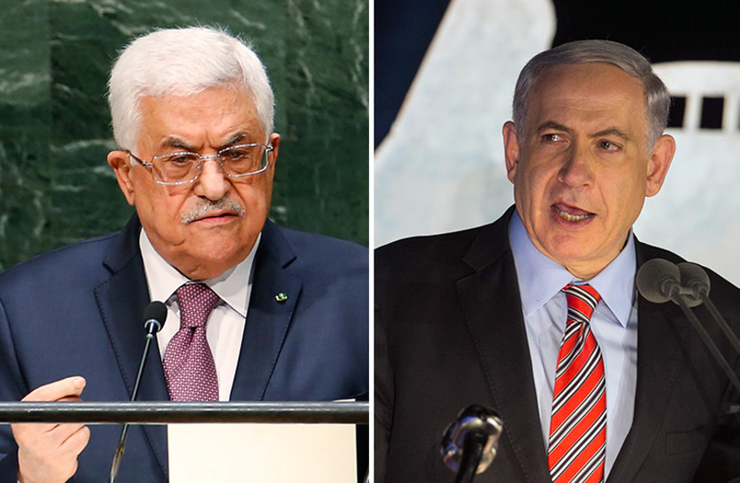 Netanyahu and Abbas (photo credit: REUTERS)