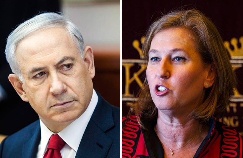 Netanyahu and Livni (photo credit: REUTERS)