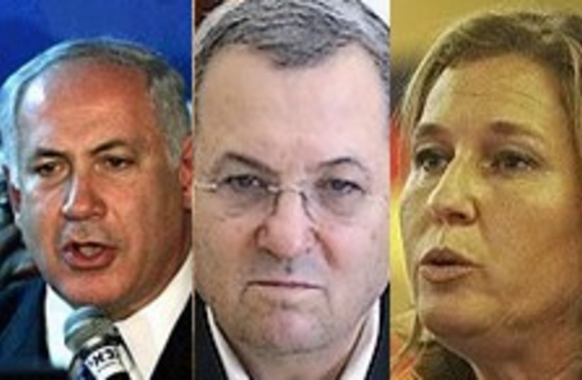 bibi barak livni trio 224  (photo credit: AP)