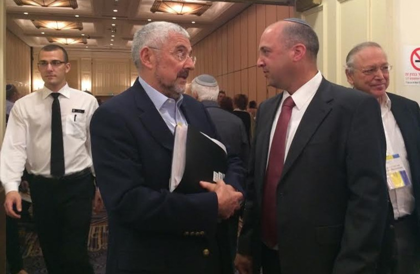 Jewish Agency Director-General Alan Hoffman and Diaspora Affairs Ministry Director General Dvir Kahana  (photo credit: SAM SOKOL)