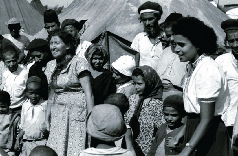 JEWISH IMMIGRANTS from Yemen in 1950 after their arrival to Israel (photo credit: REUTERS)