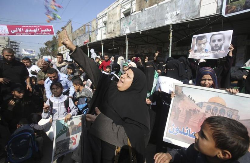 Gazans celebrate attack on a Jerusalem synagogue