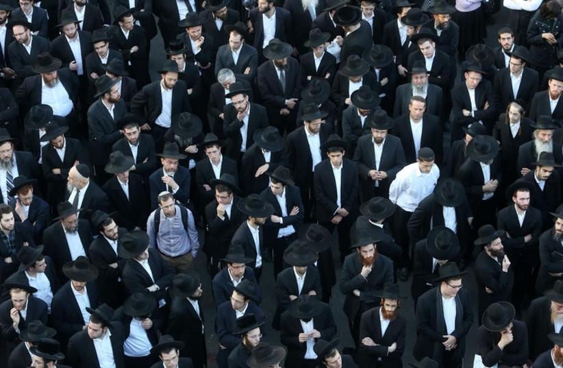 Funeral of Rabbi Aryeh Kopinsky (photo credit: MARC ISRAEL SELLEM)
