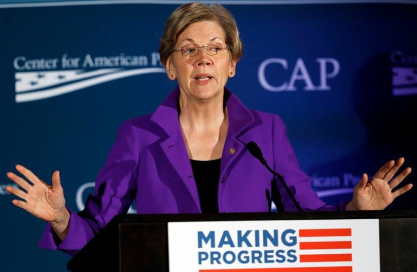 U.S. Senator Elizabeth Warren (photo credit: REUTERS)