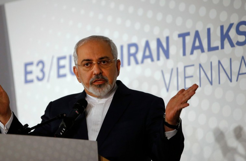 Iranian Foreign Minister Javad Zarif addresses a news conference after a meeting in Vienna November 24 (photo credit: REUTERS)