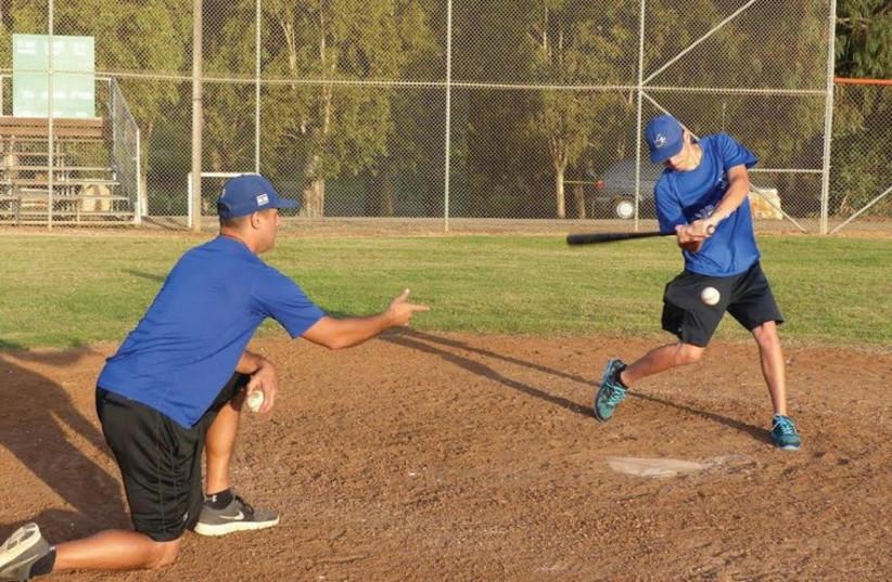 Baseball practice (photo credit: MARGO SUGARMAN)