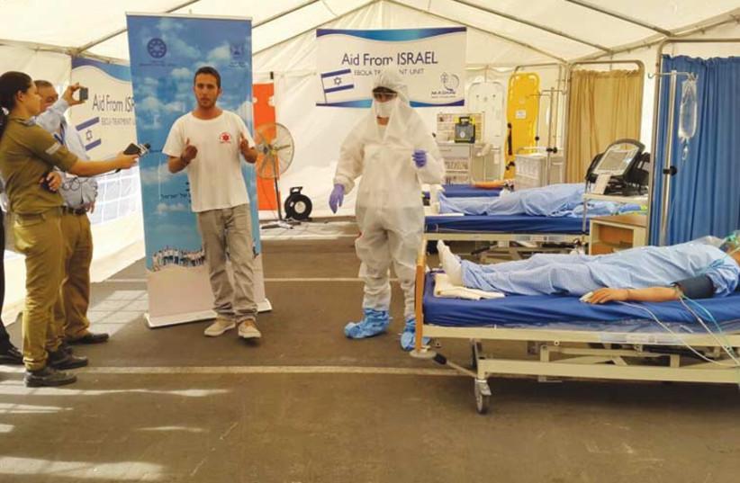 Ebola, help from Israel (photo credit: SHIRA BEN TZION)