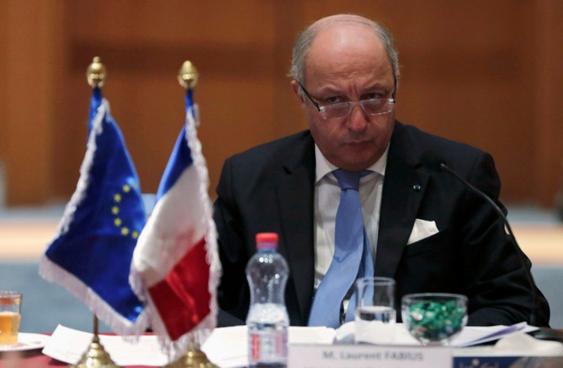 French Foreign Minister Laurent Fabius  (photo credit: REUTERS)