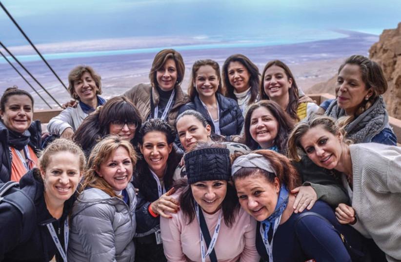 JEWISH WOMEN'S Renaissance Project participants at Masada (photo credit: PR)