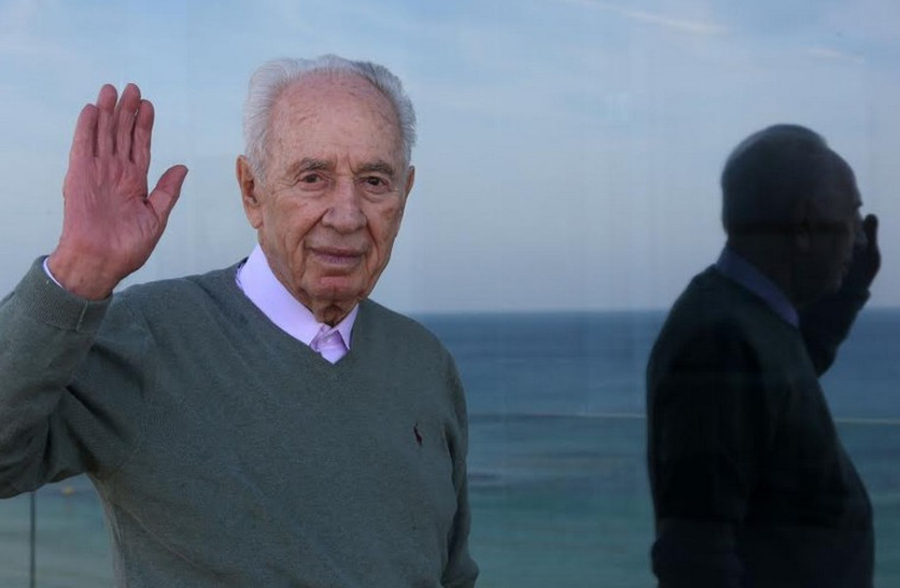 Former president Shimon Peres at the Peres Peace House, on the shores of Jaffa (photo credit: MARC ISRAEL SELLEM)