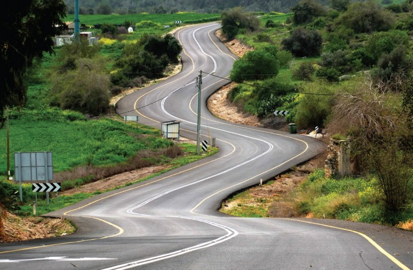 A winding road: The roundabout, manipulative nature of political discourse. (photo credit: AMIT BAR-YOSEF)