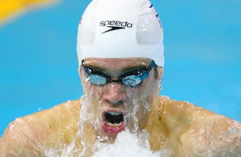 Israeli swimmer Gal Nevo (photo credit: REUTERS)