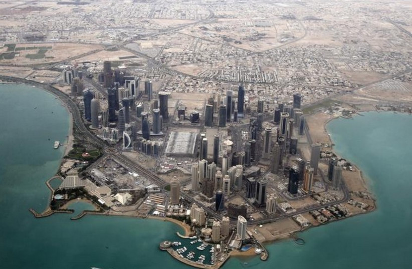 An aerial view of Doha, Qatar's capital (photo credit: REUTERS)
