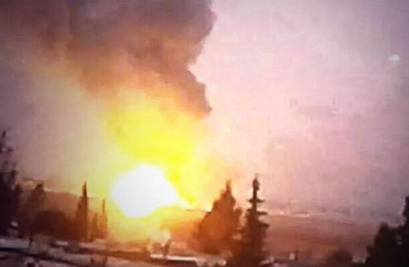 Alleged IDF bombing of targets in Syria (photo credit: ARAB SOCIAL MEDIA)