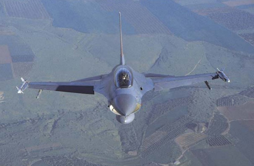 IAF F-16 fighter jet (photo credit: IDF SPOKESMAN'S OFFICE)
