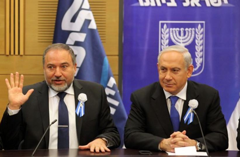 Avigdor Liberman and Benjamin Netanyahu (photo credit: MARC ISRAEL SELLEM)