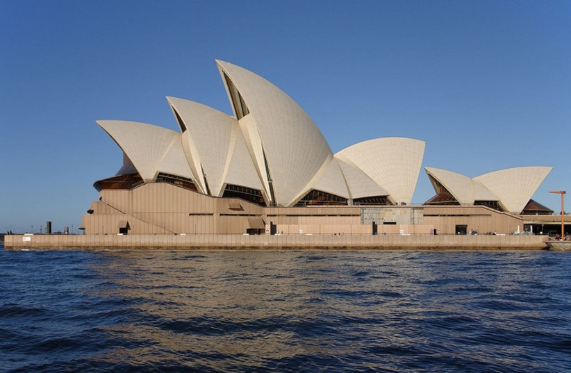 A view of the Sydney Opera House (photo credit: Wikimedia Commons)