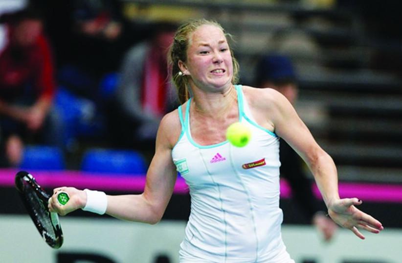 Israeli tennis star Julia Glushko (photo credit: NIR KEIDAR/ISRAEL TENNIS ASSOCIATION)