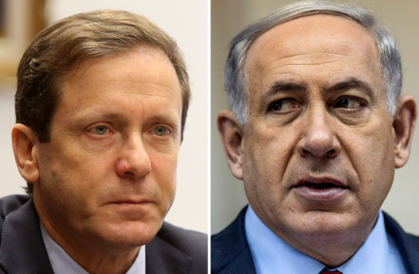 Netanyahu and Herzog (photo credit: MARC ISRAEL SELLEM/THE JERUSALEM POST,REUTERS)