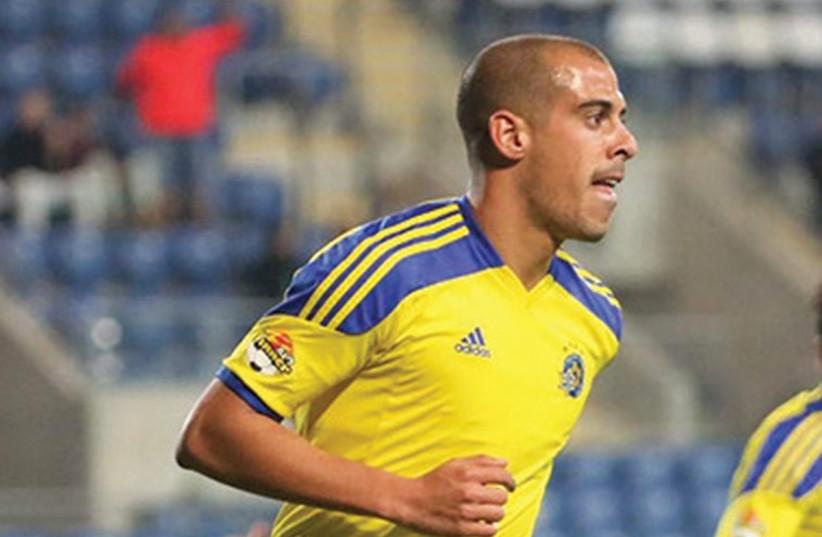 Maccabi Tel Aviv forward Tal Ben- Haim netted his team's winner in last night's 1-0 victory over Hapoel Haifa in the Toto Cup semifinals. (photo credit: ADI AVISHAI)