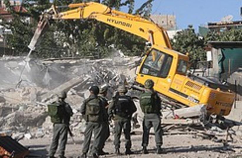 silwan house demolition 248.88 (photo credit: Ariel Jerozolimski [file])