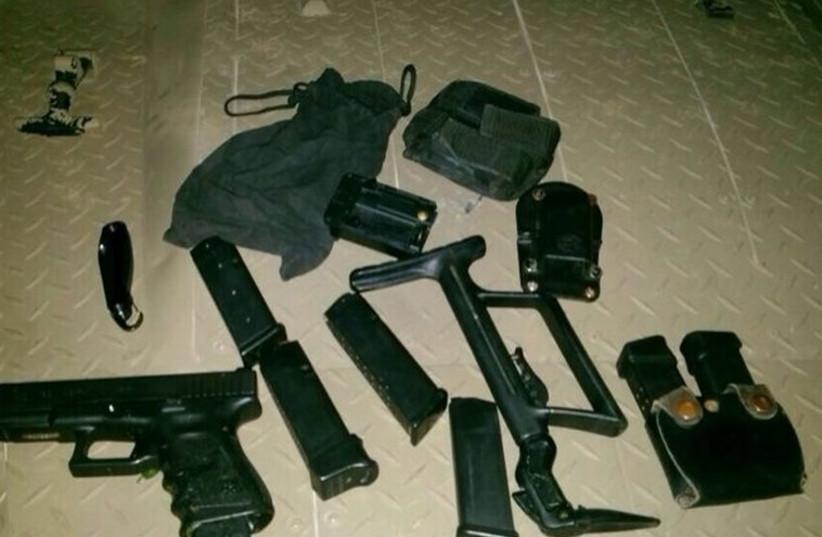 Weapons seized in Nablus by IDF (photo credit: IDF SPOKESMAN'S UNIT)