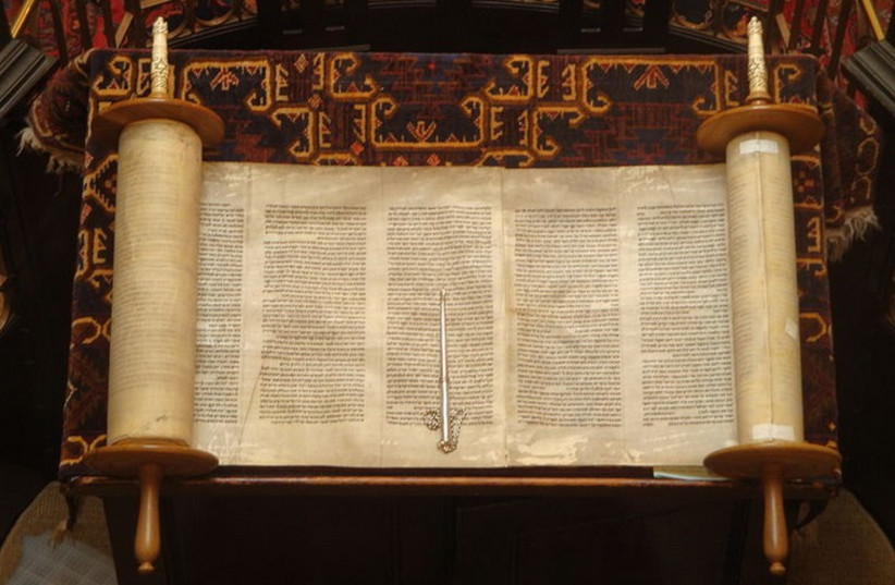 Torah scroll (photo credit: Wikimedia Commons)