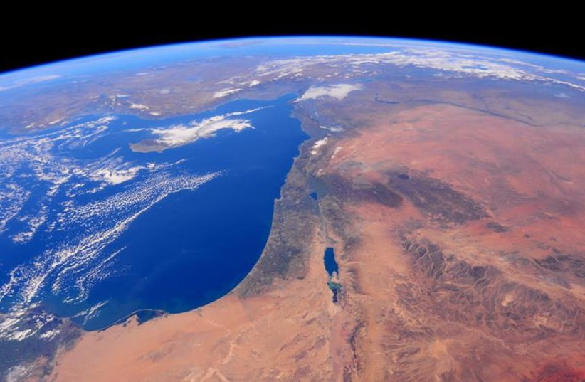 Israel from space 1 (photo credit: NASA/BARRY WILMORE)