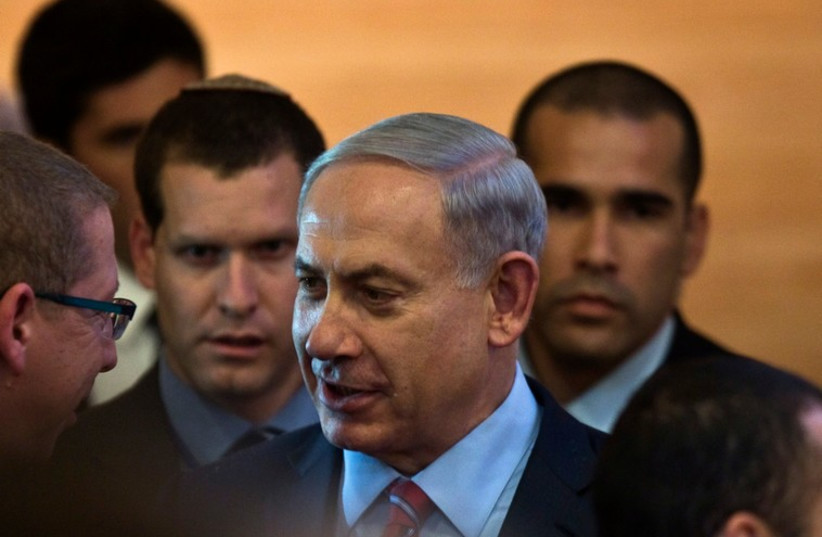 Prime Minister Benjamin Netanyahu arrives in Jerusalem ahead of the new year (photo credit: REUTERS)
