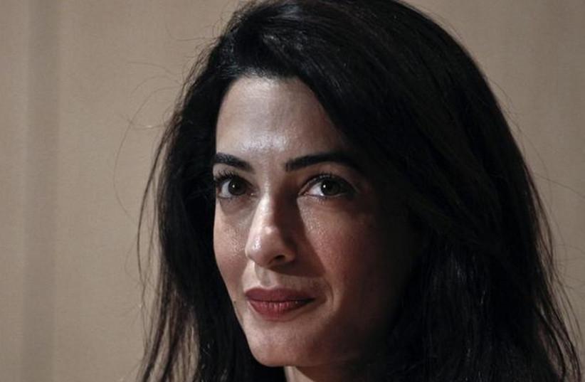 British human rights lawyer Amal Clooney (photo credit: REUTERS)