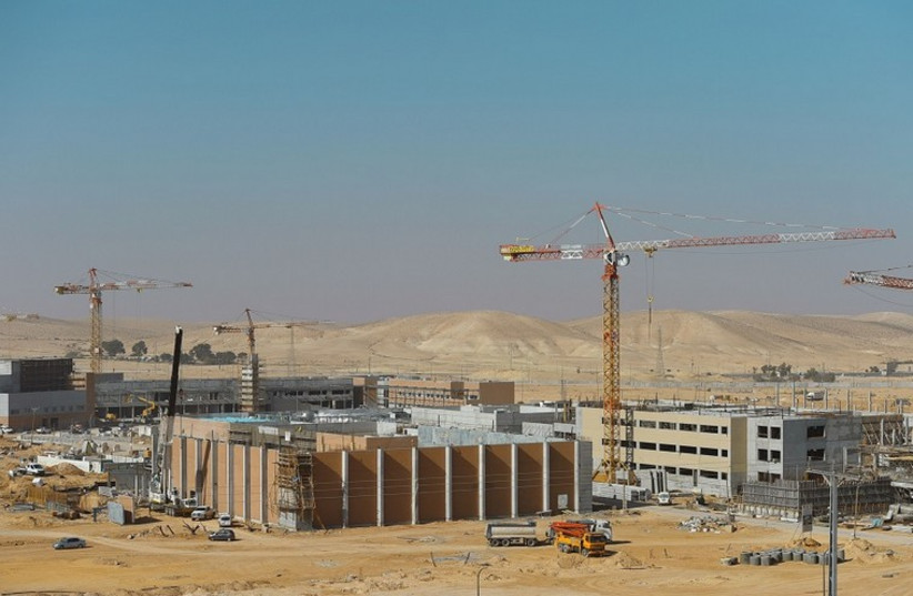 New IDF base being built in Negev (photo credit: DEFENSE MINISTRY)