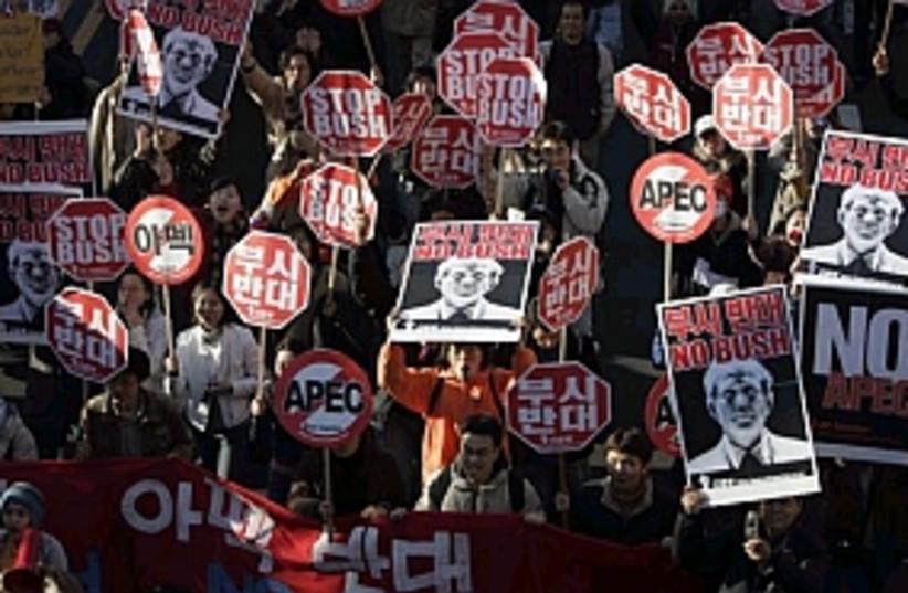apec protestors 298 88ap (photo credit: AP)