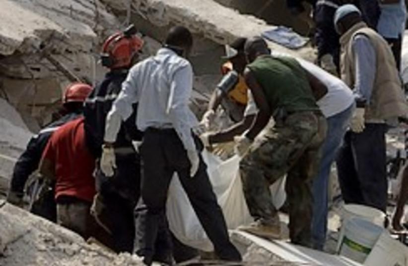 Haiti school collapse 248.88 (photo credit: AP)