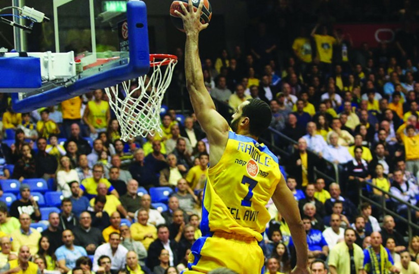 Maccabi Tel Aviv's Brian Randle (photo credit: ADI AVISHAI)