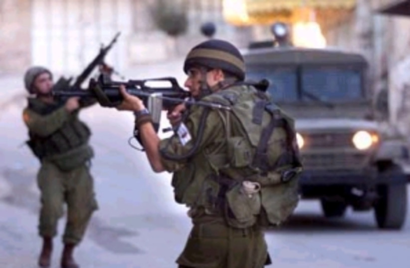 IDF patrol Hebron298AP (photo credit: AP [file])