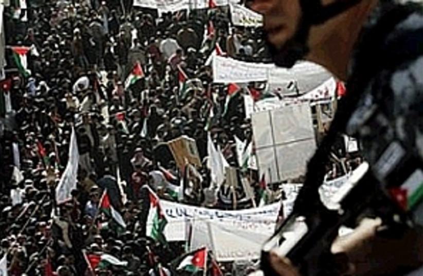 jordan anti terror rally (photo credit: AP)