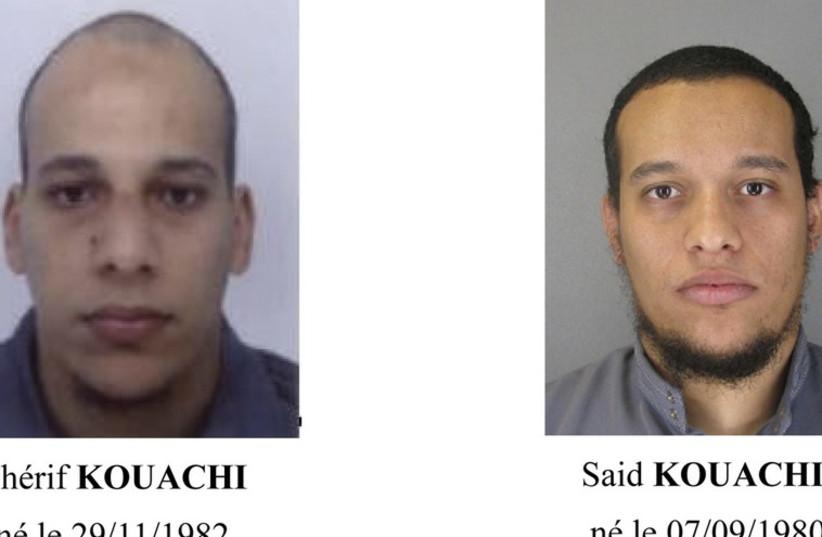 Cherif Kouachi (L) and Said Kouachi (photo credit: REUTERS)
